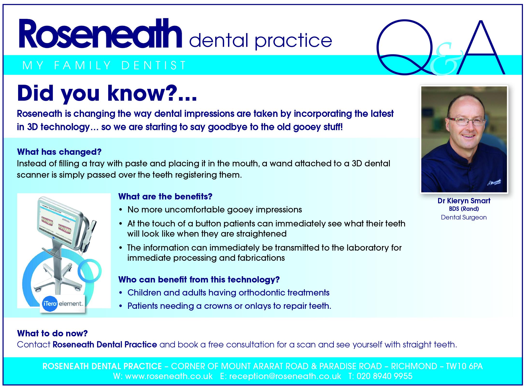 Intraoral dental scanner